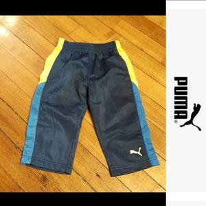 size 12M puma jogging pants blue and yellow